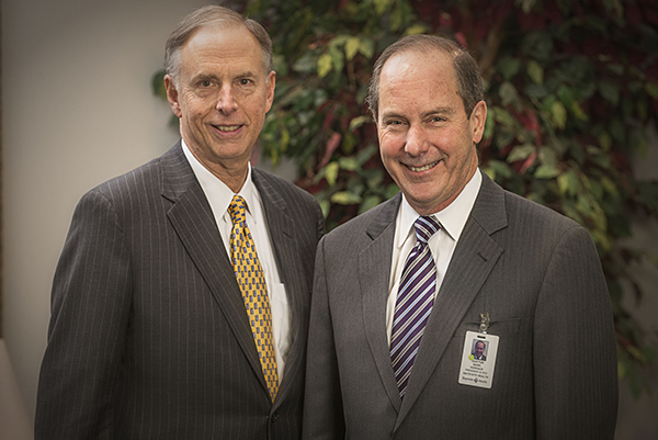 James Sadowsky, (left) Chair, Baystate Health Board of Trustees & Mark A. Keroack, MD, MPH, (right) President & Chief Executive Officer, Baystate Health